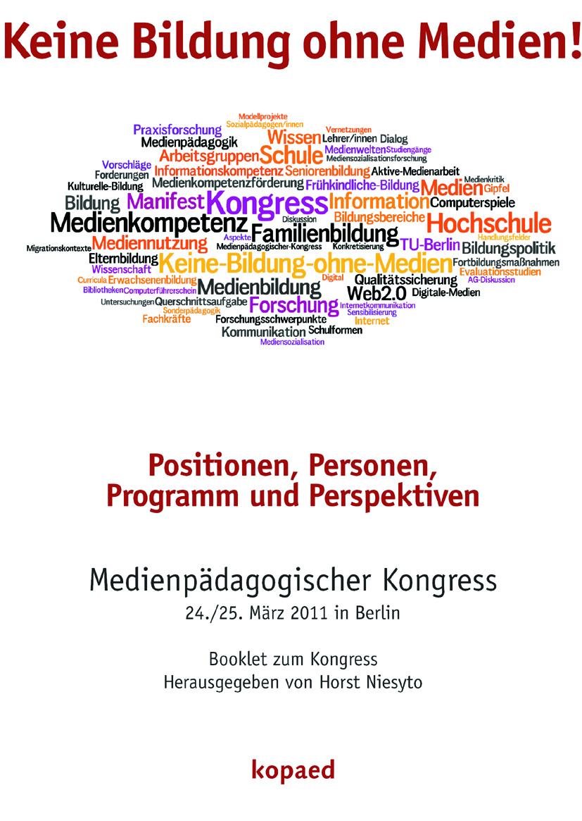 """Titelseite des Booklet """"Keine Bildung ohne Medien!"""""""