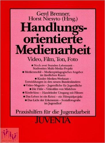 """Cover Sammelband """"Handlungsorientierte Medienarbeit"""" (Brenner & Niesyto 1993)"""